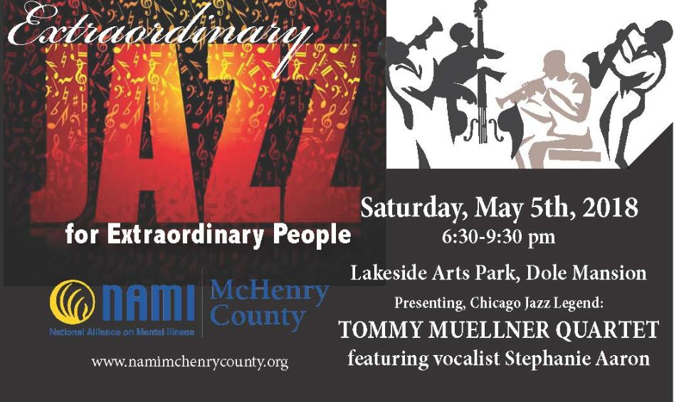 Jazz night poster, for the Tommy Muellner quartet Saturday may 5th starting at 6:30 p.m. at the Dole Mansion