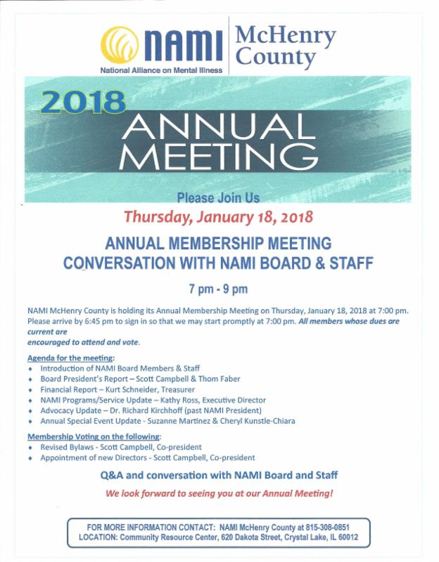 January 18th annual meeting
