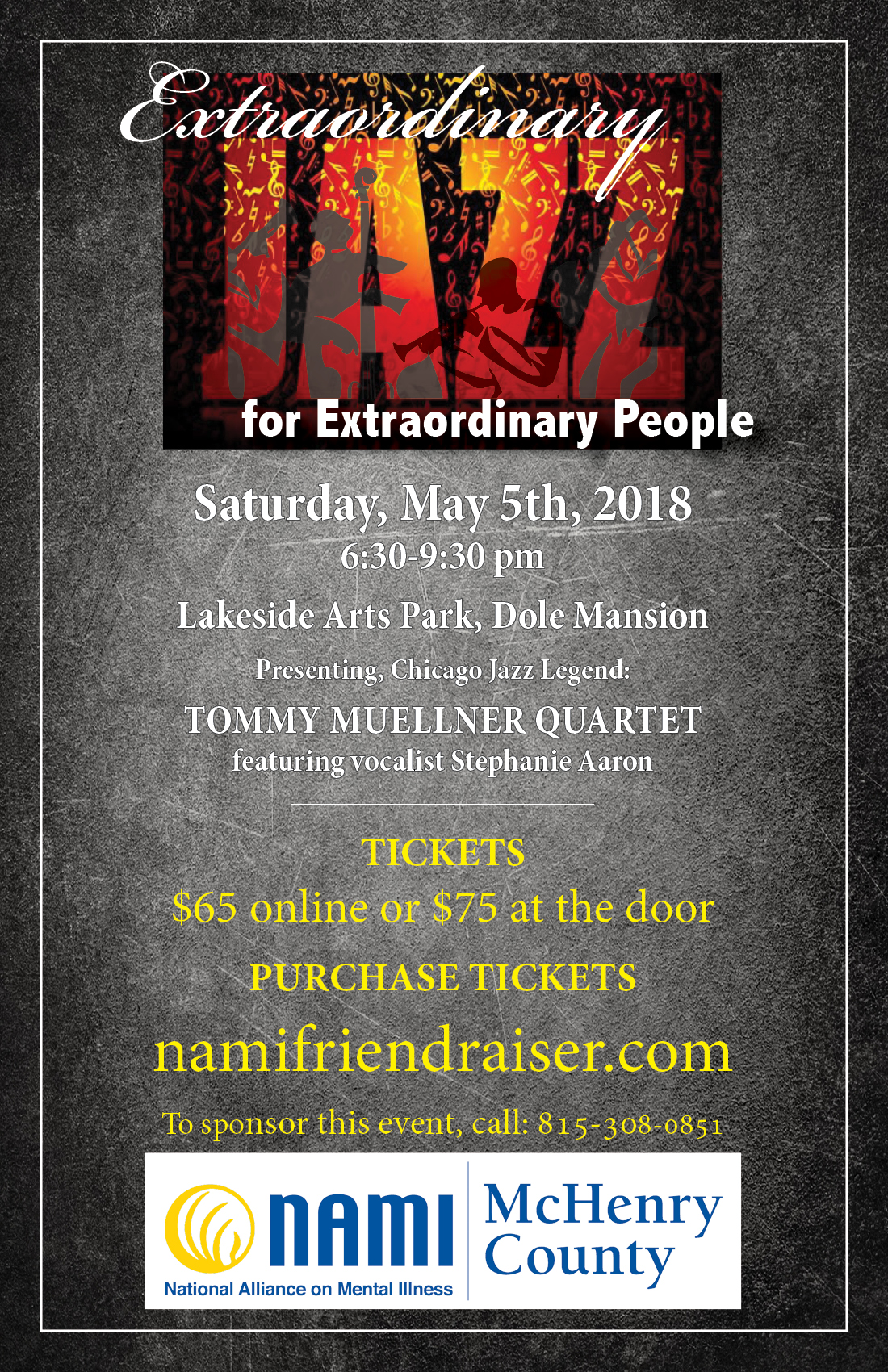 Jazz event flyer